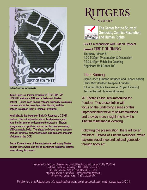 #Tsampa Revolution and Tattoos of Tibetan Refugees at Rutgers